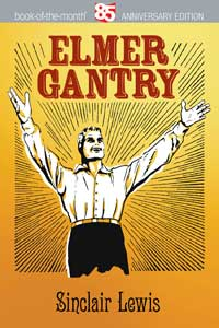 Cover design for a book on Elmer Gantry that uses the free Jugend font
