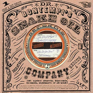A record sleeve created with many fonts from the Victorian Printshop