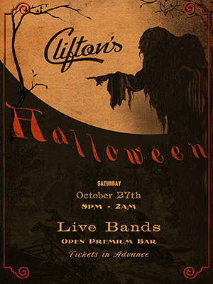 An image of a Halloween poster featuring the Monboddo WF font from the New Victorian Printshop