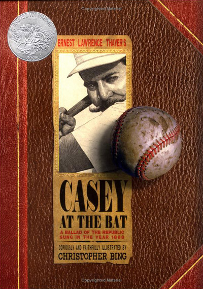 Book Cover for Casey at the Bat, made entirely with fonts from the Civil War Press font set