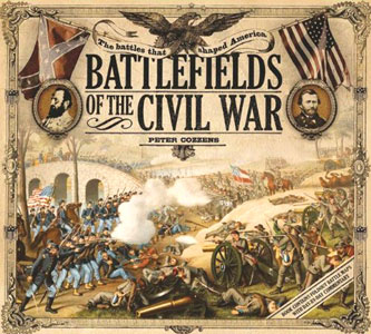 Cover design of the book Battlefields of he Civil War with fonts from the Civil War and Wild West Press font sets