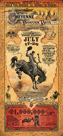 Spectacular Bob Coronato Rodeo posters made with fonts from the Wild West Press font set