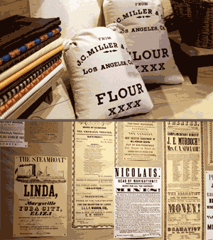 An image of exhibition items created with fonts of the New Victorian Printshop