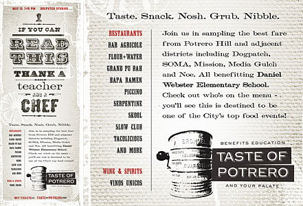 a magazine ad featuring the Clifford Eight font from the Wild West Press font set