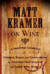 a book cover design for Matt Kramer on Wine, featuring Ashwood Condensed font from the Wild West Press font set