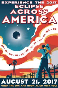 A poster for the 2017 Eclipse features the Kilroy WF font from the American Poster Fonts collection.