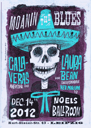 An image of a concert poster created with fonts from the Wild West Press font set