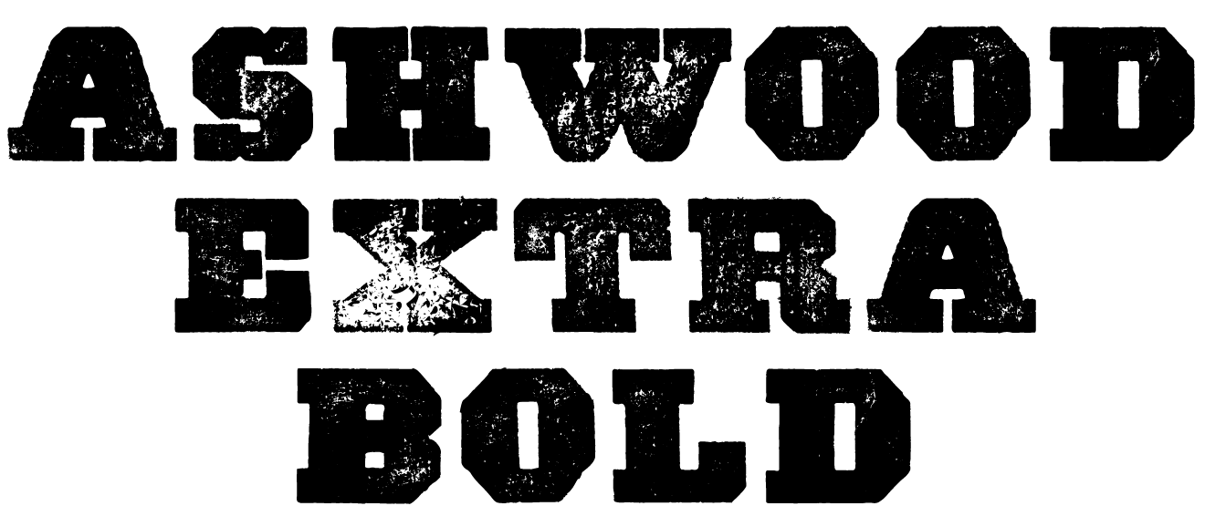 A Wild West style font called Ashwood Extra Bold from the Walden Font Co. It is part of the Wild West Press set of fonts.