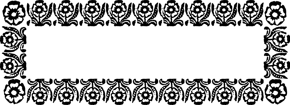 "A Colonial 18th century style font called ""Marigold Border"" from the Walden Font Co. It is part of the Minuteman Printshop set of fonts."