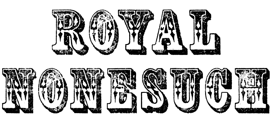 A Wild West style font called Royal Nonesuch from the Walden Font Co. It is part of the Wild West Press set of fonts.
