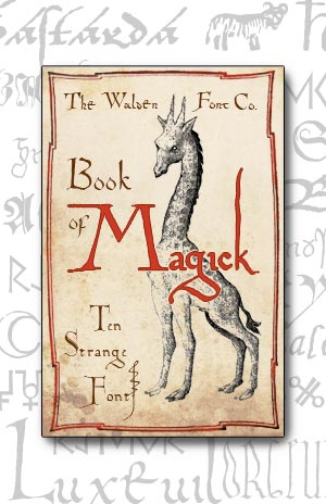 Cover art for the Magick set of bizarre and unusual medieval handwriting fonts