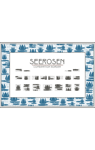 A sample of WF Border Seerosen, a decorative border font from the Art Nouveau Printshop Volume 1 design kit