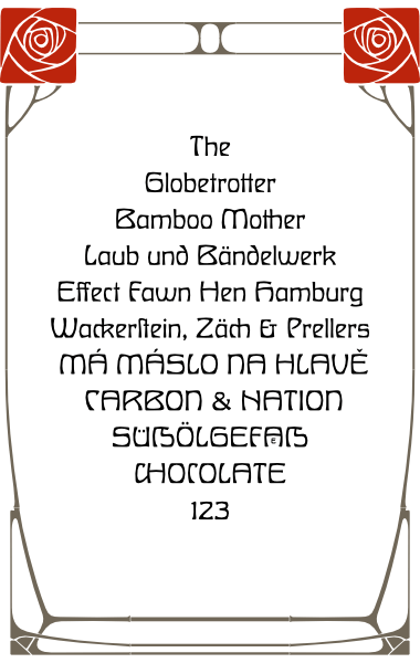 WF Habsburg is a German Jugendstil Art Nouveau font. Completely redrawn and featuring support for most European languages