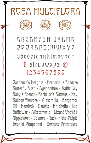 WF Ovid is a German Jugendstil Art Nouveau font. Completely redrawn and featuring support for most European languages