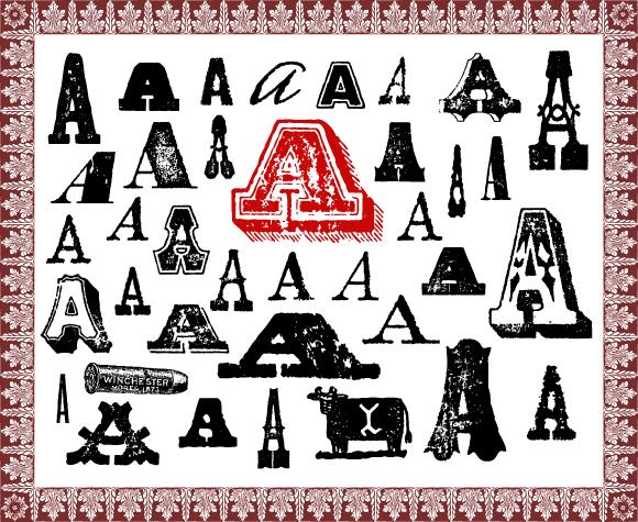 Design Kits Wild West Fonts Sampler Png Letters Clips