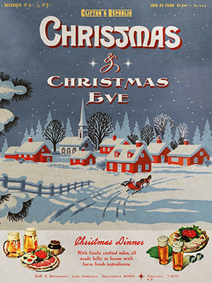 An image of a Christmas poster featuring fonts from the New Victorian Printshop