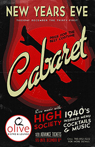 A concert poster using a font from the American Poster Fonts of World War II font set