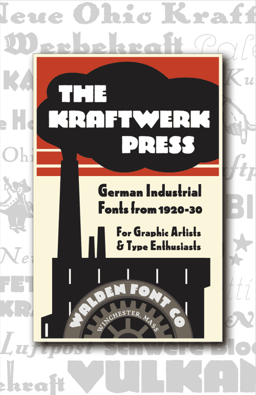 Header image for the Kraftwerk Press set of industrial fonts