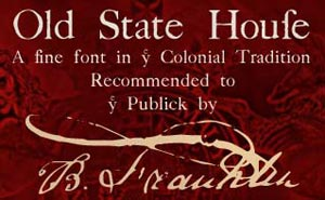 Cover art for the authentic colonial American font Old State House WF