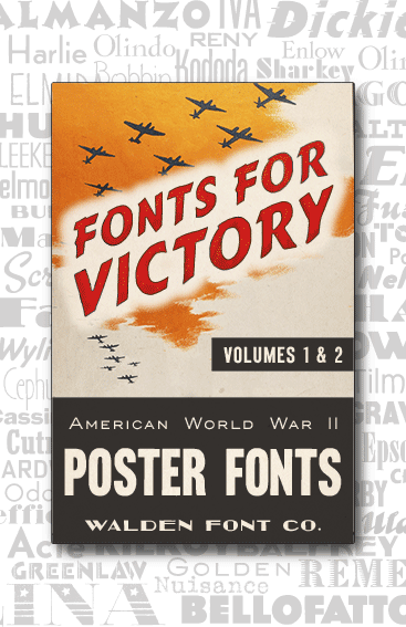 Header for American Poster Fonts Volumes One and Two