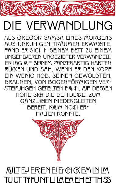 WF Rienzi Versalien is a German Jugendstil Art Nouveau font. Completely redrawn and featuring support for most European languages